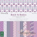 1/3 набора односторонней бумаги Dovecraft Back to Basics - Berry Blush, 30*30см, 12л, 150гр