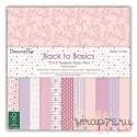 1/3 набора односторонней бумаги Dovecraft Back to Basics - Pretty In Pink, 30*30см, 12л, 150гр