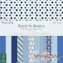 1/4 набора односторонней бумаги Dovecraft Back to Basics - Blue Skies, 20*20см, 12л, 150гр