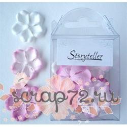 Набор цветов примулы, розовые тона, 20шт