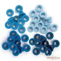 Набор люверсов (синие) 60шт (4цвета по 15шт), 0,5см, от WeR Memory Keepers