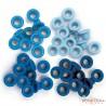 Набор люверсов (синие) 60шт (4цвета по 15шт) от WeR Memory Keepers