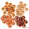 Набор люверсов (оранжевые) 60шт (4цвета по 15шт), 0,5см от WeR Memory Keepers