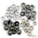 Набор люверсов (серебро) 60шт (4цвета по 15шт), 0,5см от WeR Memory Keepers