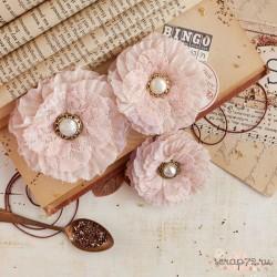 Цветы тканевые Vintage Emporium от Prima Marketing, 3шт