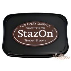 Штемпельная подушечка StazOn, коричневая, 6,5*10см