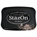 Штемпельная подушечка StazOn, черная, 6,5*10см