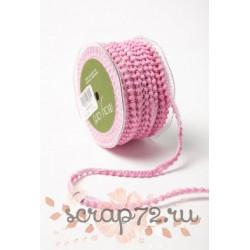 Тесьма с помпонами от May Arts, цвет розовый, 10мм, 90см