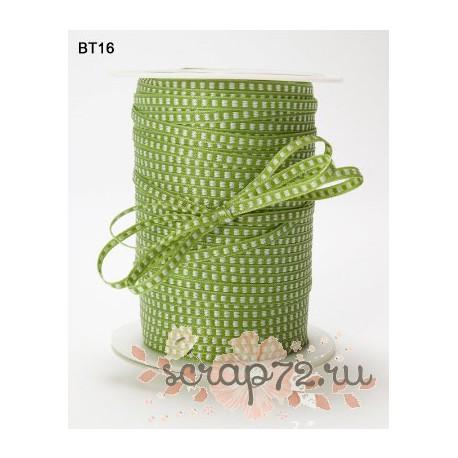 Лента от May Arts, цвет оливковый, 3мм, 90см