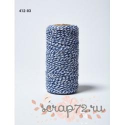 Двухцветный шпагат от May Arts, цвет голубой, 90см