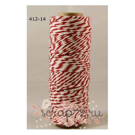 Двухцветный шпагат от May Arts, цвет красный, 90см