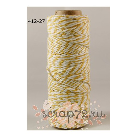 Двухцветный шпагат от May Arts, цвет желтый, 90см