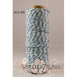 Двухцветный шпагат от May Arts, цвет бирюзовый, 90см