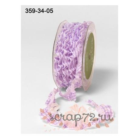 Декоративная лента-резинка от May Arts, цвет сиреневый, 10мм, 90см