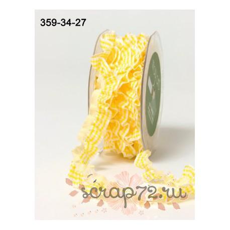 Декоративная лента-резинка от May Arts, цвет желтый, 10мм, 90см
