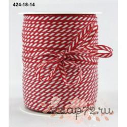 Лента от May Arts, цвет красный, 3мм, 90см