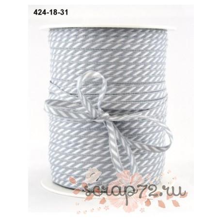 Лента от May Arts, цвет серый, 3мм, 90см