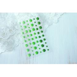 Эмалевые дотс Зеленые, 54шт.