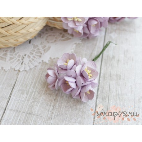 Цветы вишни, цвет лиловый, 2.5см, 1цветок