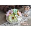 Букетик хризантем, пастельный микс, 4.5см, 5шт.