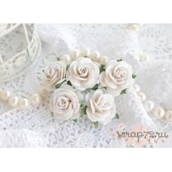 Роза Мальбери, цвет белый, 25мм, 1 цветок