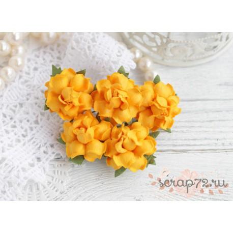 Роза, цвет мандариновый, 25мм, 1 цветок