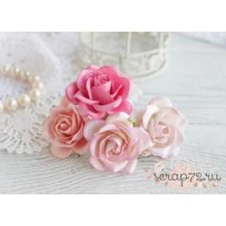 Букетик розочек Шпалера, розовые тона, 4цветка