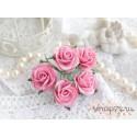 Роза Мальбери, цвет розовый, 25мм, 1 цветок
