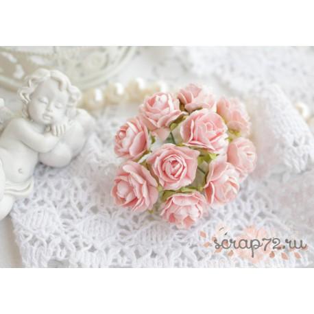 Роза, цвет нежно-розовый, 15мм, 1 цветок