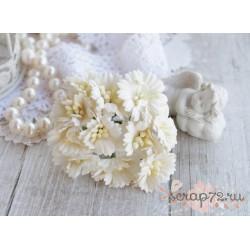 Маргаритка, цвет белый, 2.5см, 1 цветочек