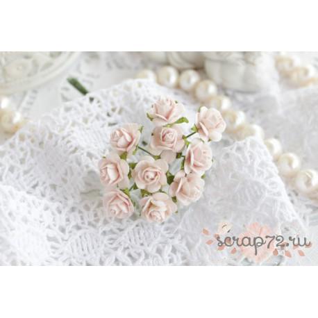 Роза Мальбери, цвет светло-розовый, 10мм, 1 цветок