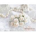 Роза Мальбери, цвет белый, 20мм, 1 цветок