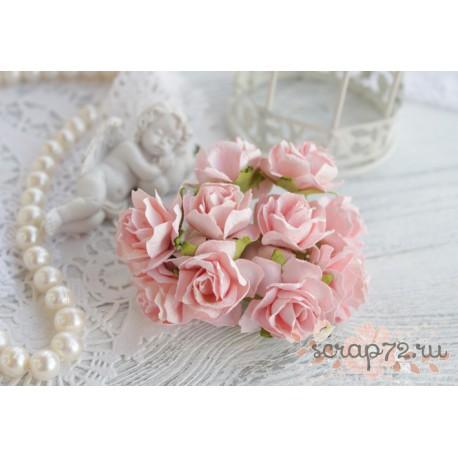 Дикая роза, цвет нежно-розовый, 3см, 1шт
