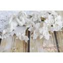 Орхидея, цвет белый, 3 см, 1шт.