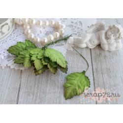 Листочки ромашки, цвет зеленый, 3.5*2.5см, 10шт