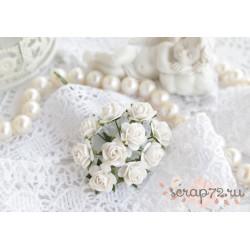 Роза Мальбери, цвет белый, 10мм, 1 цветок