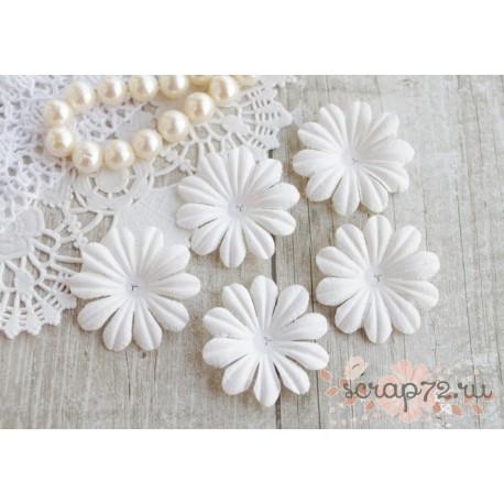 Цветочек плоский, белый, 3.5см, 10шт