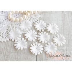 Цветочек плоский, белый, 2.5см, 10шт