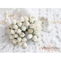 Бутон розы, белый, 1см, 1 бутон