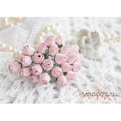 Бутон розы, нежно-розовый, 1см, 1 бутон
