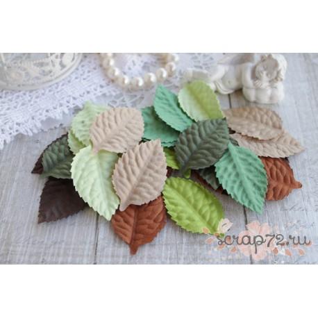 Листочки розы, цвет осени, 4.5*3см, 10шт
