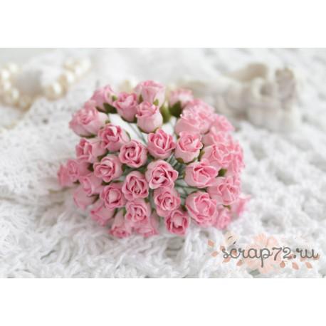 Роза кудрявая в бутонах, 8-10мм, цвет нежно-розовый, 1шт.