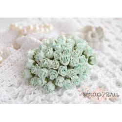 Роза кудрявая в бутонах, 8-10мм, цвет пастельный зеленый, 1шт.