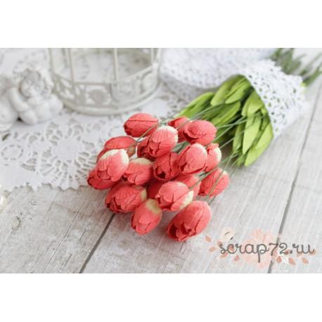 Тюльпан, цвет красный, 20мм, 1шт.