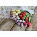 Букетик тюльпанов, 12мм, яркий микс, 5шт.