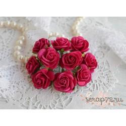Роза Мальбери, цвет коралловый красный, 20мм, 1 цветок