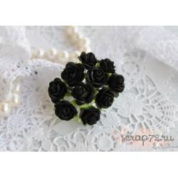 Роза Мальбери, цвет черный, 15мм, 1 цветок