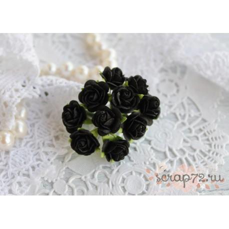 Роза Мальбери, цвет черный, 1 цветок