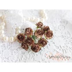 Роза Мальбери, цвет какао-шоколад, 15мм, 1 цветок