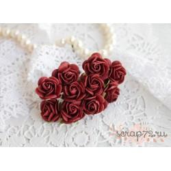 Роза Мальбери, цвет бургундское вино, 1 цветок